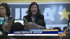 Elaine Luria upsets Congressman Scott Taylor for Virginia`s 2nd District House seat