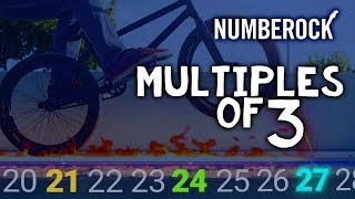 Skip Counting by 3 Song | Multiples of 3 by NUMBEROCK