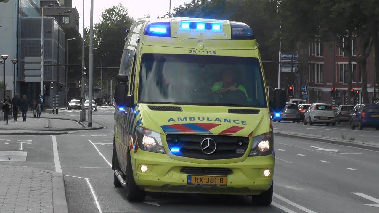 Nieuwe Ambulance 25 115 Flevoland Met Spoed Naar Het Erasmus Mc In