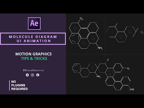 Molecule Diagram UI animation in After Effects | Easy