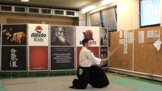 kihon tsuki zengo suwatte- boken  [TUTORIAL] basic Aikido weapon technique 合気剣