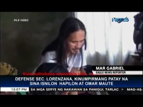 Defense Secretary Lorenzana confirms death of Isnilon Hapilan and Omar Maute