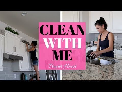 CLEAN WITH ME SAHM | CLEANING MOTIVATION | POWER HOUR CLEANING