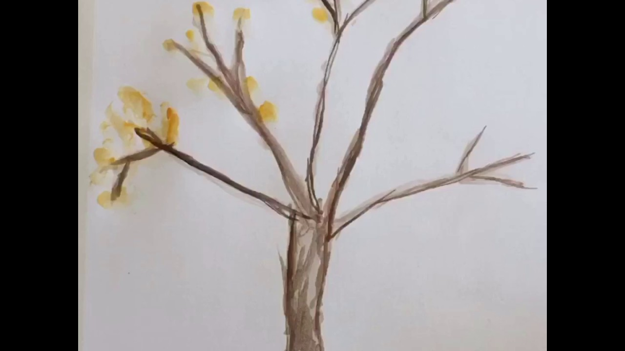 Sonbahar Ağacı Nasıl çizilir How To Draw Autumn Tree Youtube