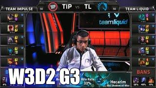 Team Impulse vs Team Liquid | S5 NA LCS Summer 2015 Week 3 Day 2 | TIP vs TL W3D2 G3 Round 1