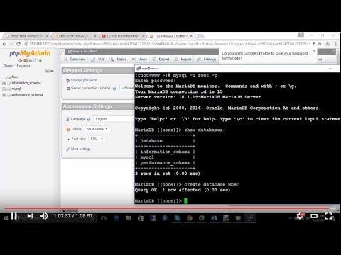 install mysql phpmyadmin centos 7