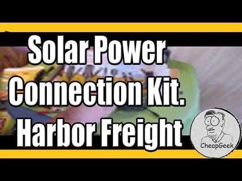 Harbor Freight Solar Power Connection Kit.