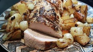 Roasted Pork Loin W Apples Pearl Onions N Tators