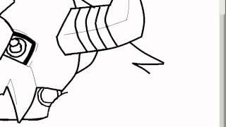 Dibujando a WarGreymon (chibi) - how to draw wargreymon chibi