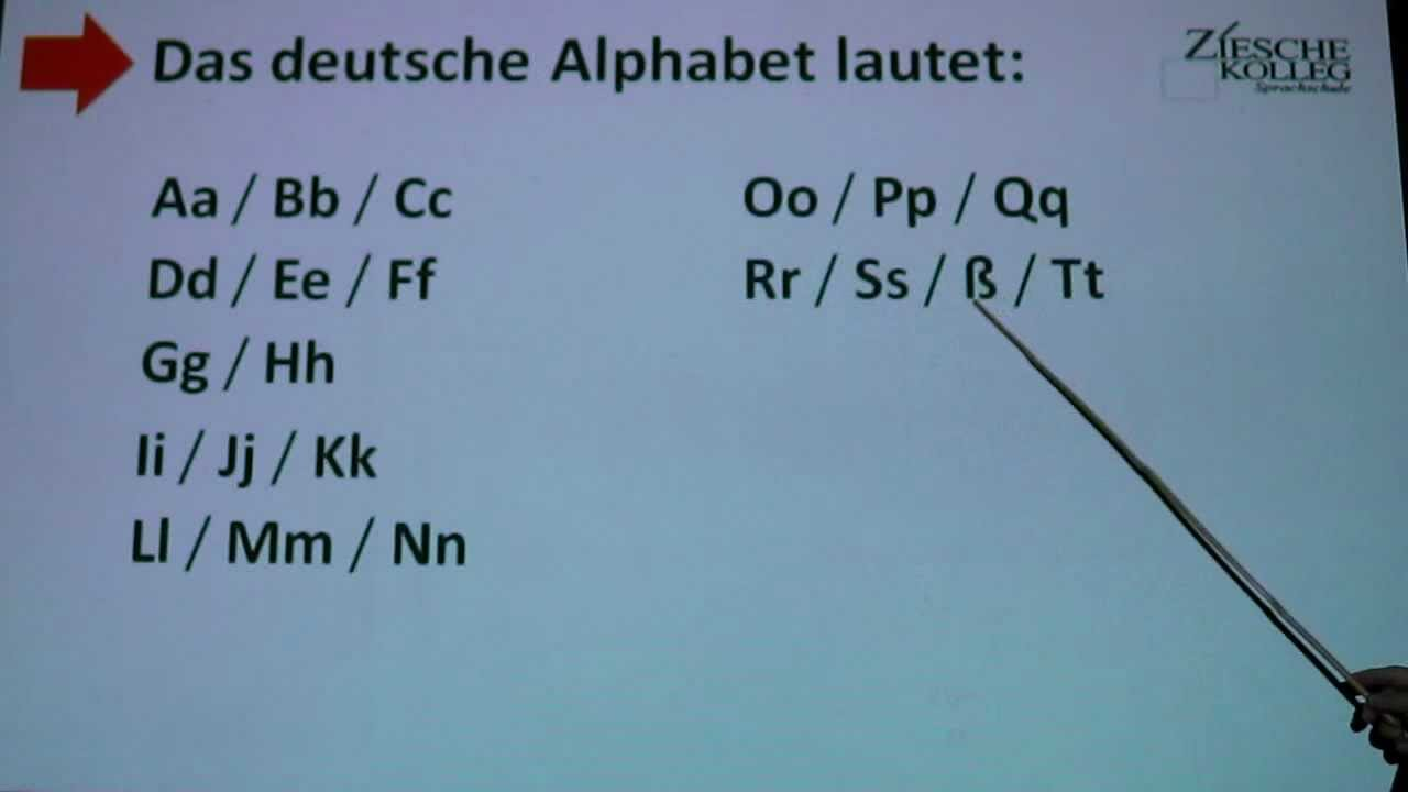 deutsch lernen a1 alphabet german alphabet for beginners youtube. Black Bedroom Furniture Sets. Home Design Ideas