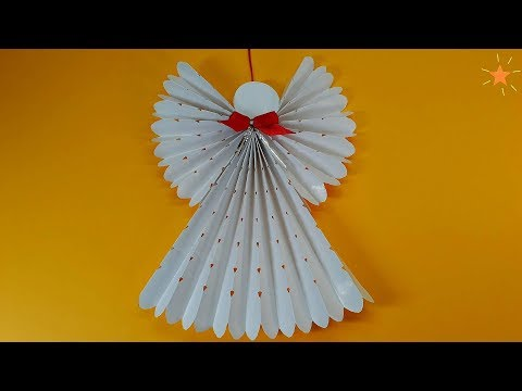 How to make a paper angel - Christmas tree decorations