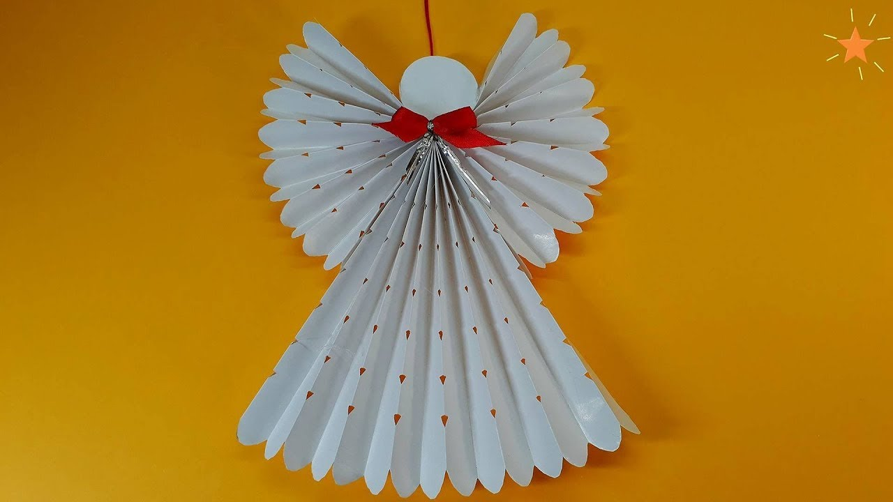 How to make a paper angel christmas tree decorations youtube how to make a paper angel christmas tree decorations jeuxipadfo Images