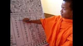 Monk From Laos Teaches The Lao Alphabet: 2 of 2