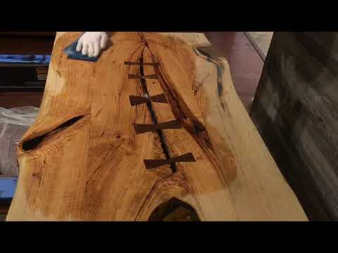 Live Edge Cherry Coffee Table - Finishing with Danish Oil