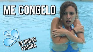 24 HORAS EN LA PISCINA | ME CONGELO | Lyna Vlogs
