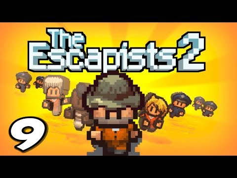 The Escapists 2 - Bribing Guards & Digging Holes!! - Episode 9 (Escapists 2 Gameplay Playthrough)