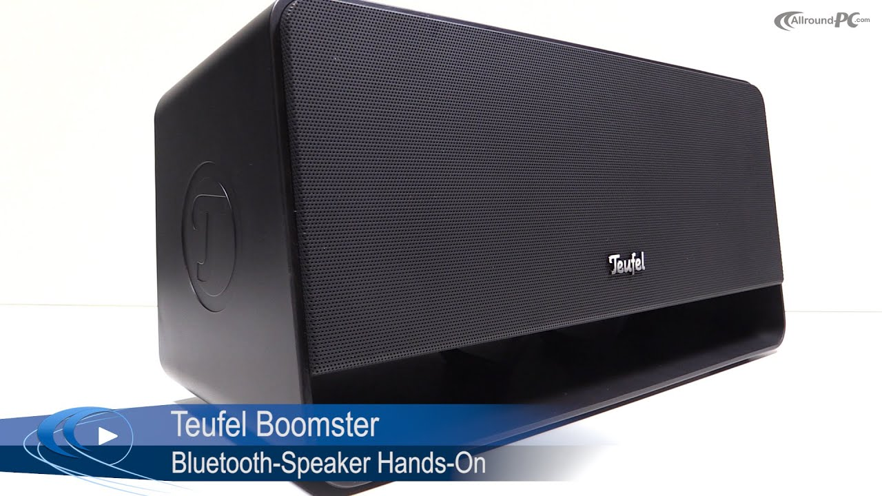 teufel boomster 2 1 bluetooth speaker hands on allround youtube. Black Bedroom Furniture Sets. Home Design Ideas