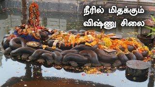 1000 ஆண்டுகளாக நீரில் மிதக்கும் விஷ்ணு சிலை | Floating Vishnu Statue