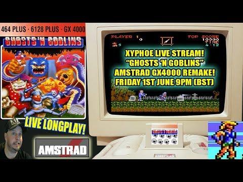 "[AMSTRAD GX4000] ""Ghosts 'N Goblins"" - New GX4000 Remake! Live Longplay! [Xyphoe Live Stream]"
