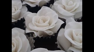 Rosa de pasta americana simples para iniciantes