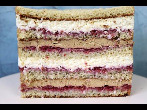 Рецепт торта КОФЕ - КОКОС - МАЛИНА