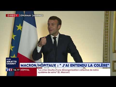 Hôpitaux : Macron