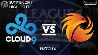 c9 vs p1 all games highlights na lcs summer 2017 cloud 9 vs phoenix 1 lol esports