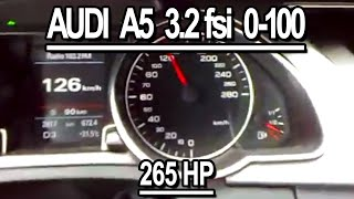 Audi A5 3.2 FSI acceleration(Russia,04.2008.AT,