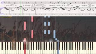 В тихую лунную ночку - Городской романс (Ноты и Видеоурок для фортепиано) (piano cover)