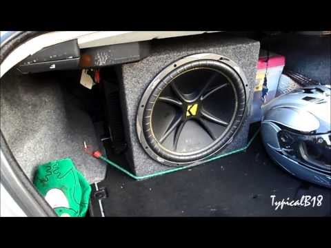 Kicker Comp C15 & Rockford Fosgate P2002 Quick Demo (Minor Trunk & Rear Deck Flex)