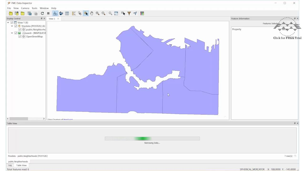 How to Connect to a Database in FME (PostGIS example)
