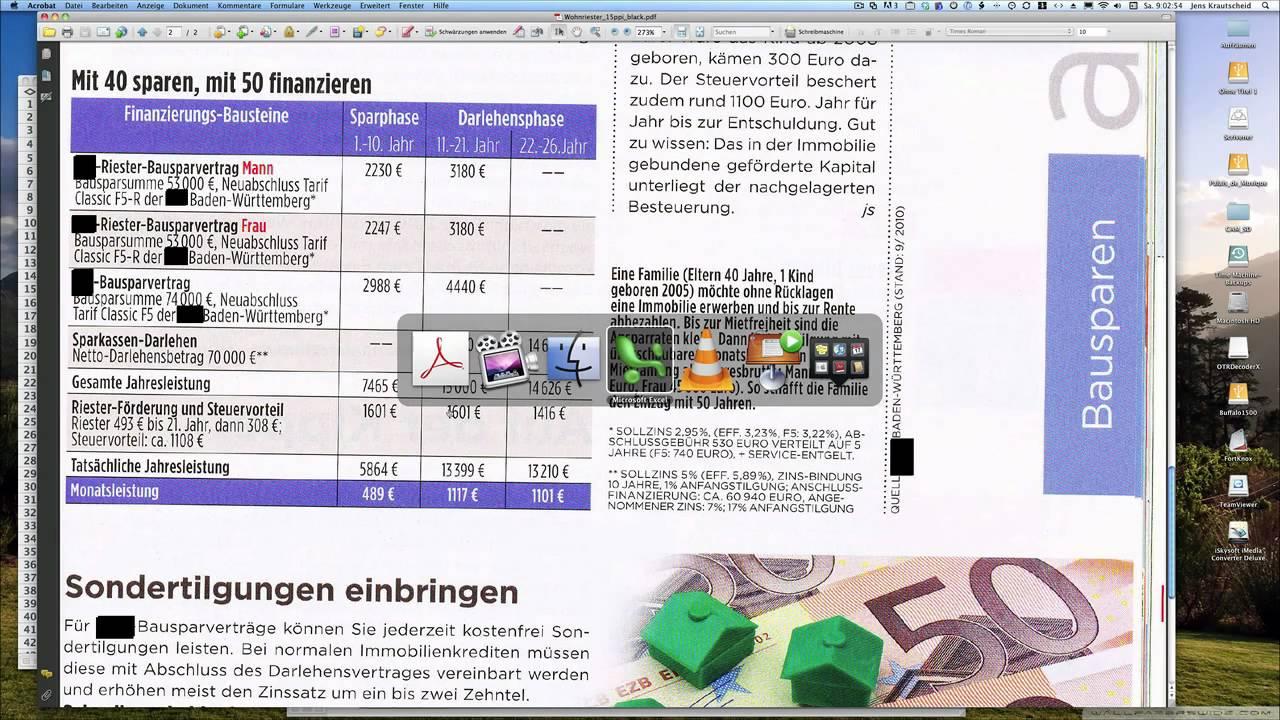 Wohnriester Bausparvertrag Gehts Anders Youtube