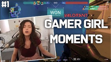 Valorant - Gamer Girl Funny Moments (Pokimane, Brookeab, DingleDerper)