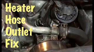 1995 96 97 98 99 Gm Truck Vortec V8 Heater Hose Outlet Replacement  Chevy & Gmc