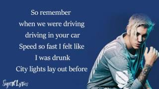 Justin Bieber - Fast Car (Tracy Chapman)(Lyrics)