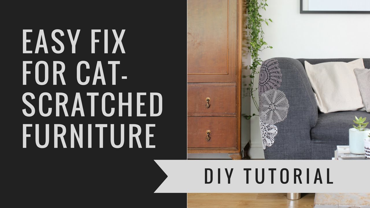 How to repair catscratched furniture using doilies