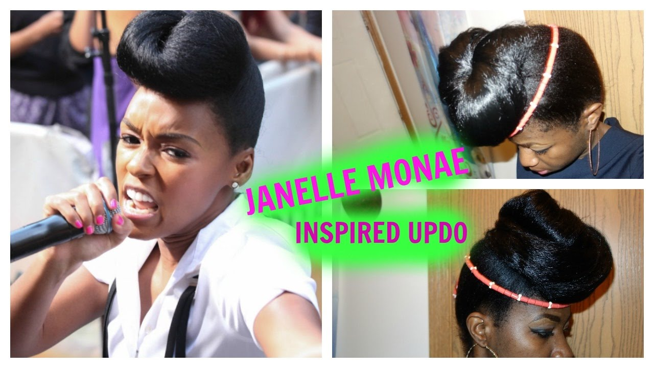 Diy How To Do A Janelle Monae Inspired Hairstyle Ft Lazy Makeup No Foundation