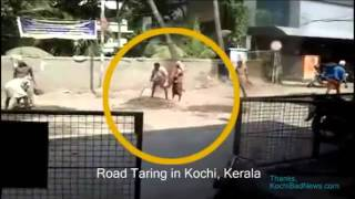 Hardworking Road Workers of Kerala - Funny Clip.. Must see LOL!! :D