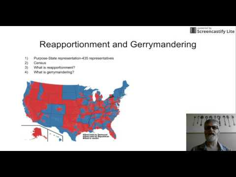 Reapportionment and Gerrymandering