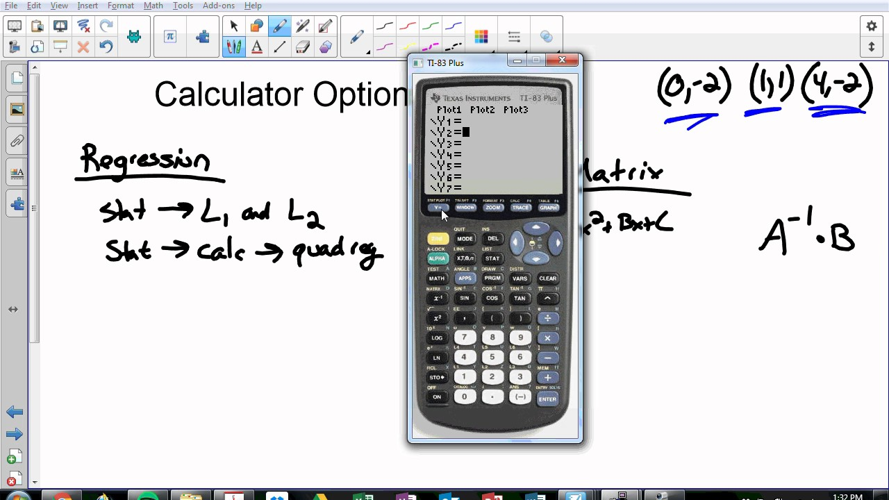 How to find a quadratic equation given three points with and how to find a quadratic equation given three points with and without graphing calculator falaconquin