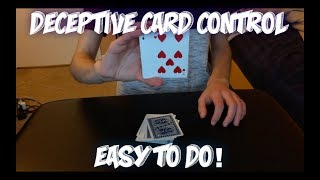 Simple And Deceptive Card Control Performance And Tutorial! *Bonus Trick Included*