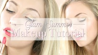 Glamorous summer makeup with drugstore & high end products | freddy my love