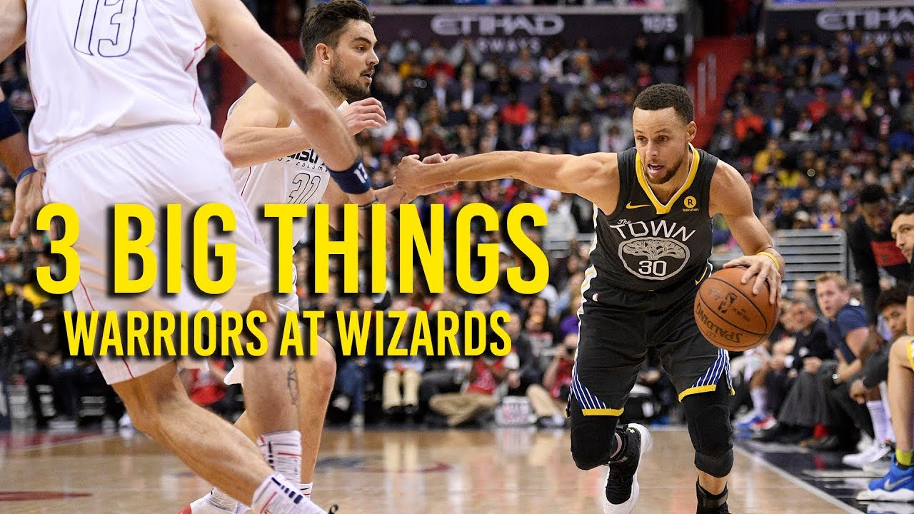 3 Big Things: Warriors beat Wizards 109 to 101