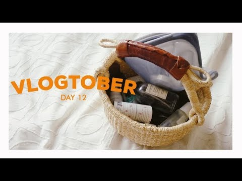 What I Packed for a Weekend Away, Cruelty Free Make-Up & Skin Care  (Vlogtober Day 12) Alli Cherry