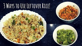 3 Delicious Ways to Use Leftover Rice | 3 Vegetarian  Leftover Rice Recipes  | Saloni