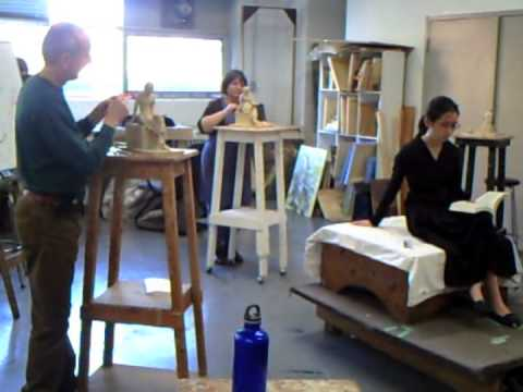 Figurative sculpture course  in TSA -Toronto School of Art