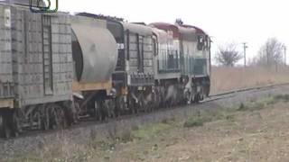 Tren granero de NCA rumbo a Villa María saliendo de General Deheza