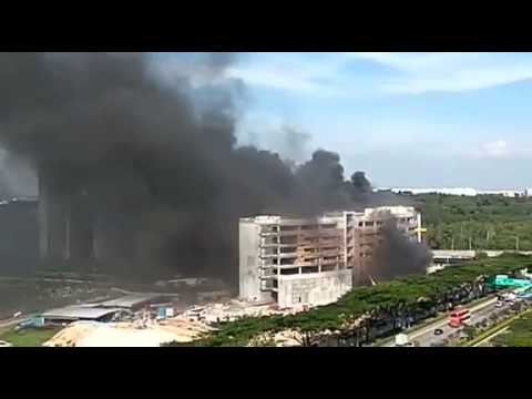 Fire at Global Indian International School construction site in Punggol