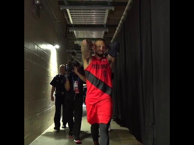 RAW VIDEO: Damian Lillard after Blazers win Game 7 vs. Denver