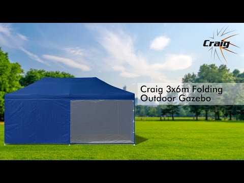 Craig 3x6m Folding Outdoor Gazebo